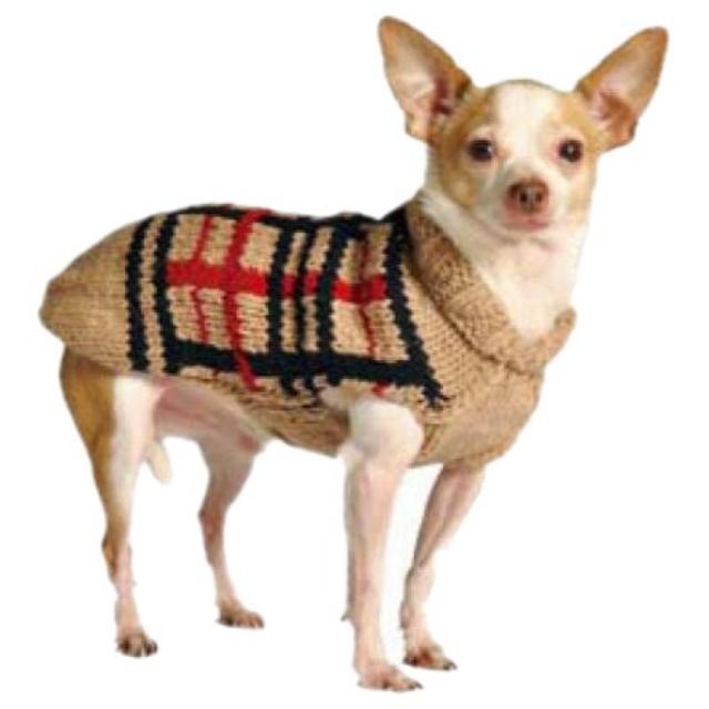 Chilly Dog Tan Plaid Dog Sweater X Large Walmart Com