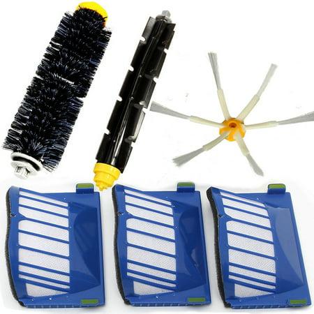 Filters & Brush Pack Kit For iRobot Roomba 600 Series 600 620 630 650 660 Set of 6Pcs - image 5 de 6
