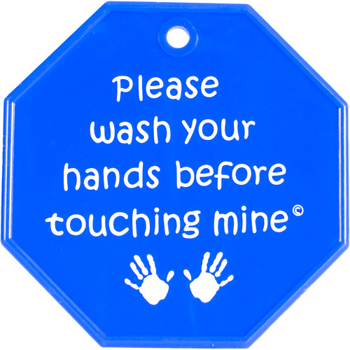 My Tiny Hands Please Wash Sign, Assorted Colors