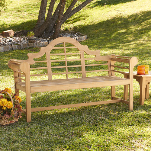 Wildon Home Lutyens Teak Garden Bench