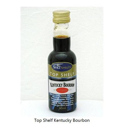 MOONSHINE ALCOHOL FLAVORING Kentucky Bourbon Whiskey STILL SPIRITS Top Shelf 50ml, Easy to make - Just add 1/3 bottle to 750ml alcohol By Hobby Homebrew Ship from US