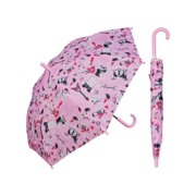rainstoppers w104chgirlr 32 in. childrens girls rule print umbrella, 6 piece