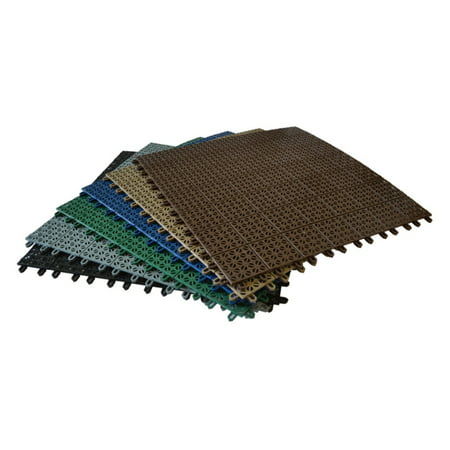 "Riverstone Industries RSI- IFS (INTERLOCKING FLOOR SYSTEM) - BROWN  22"" x 22"""