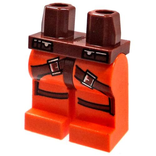 LEGO Minifigure Parts Orange With Brown Gun Belt Loose Legs [Loose]
