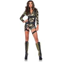 Leg Avenue Women's Sexy Camo Military Officer Costume
