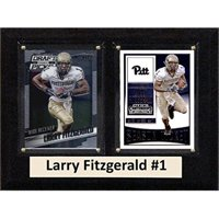 """C & I Collectables NCAA 6"""" x 8"""" Larry Fitzgerald Pittsburgh Panthers 2 Card Plaque"""
