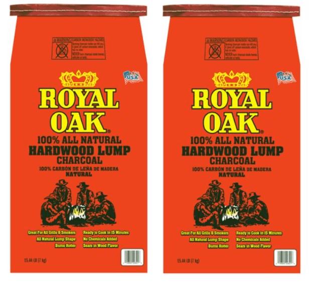 (2 pack) Royal Oak All Natural Hardwood Lump Charcoal, 15.44LB