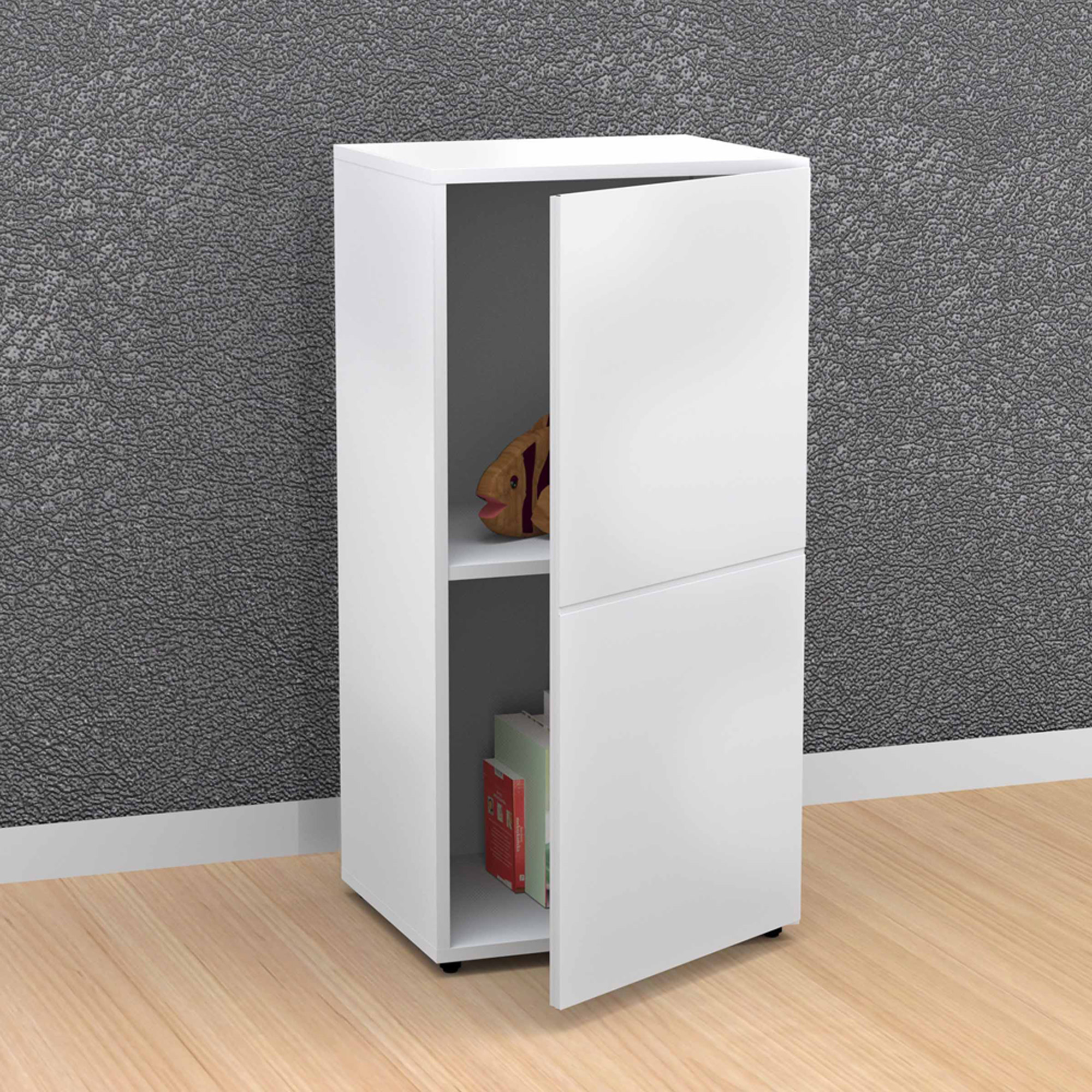 Nexera BLVD 1-Door Storage Module, White