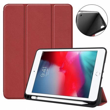 Allytech iPad Mini 5 Case (2019), iPad Mini 4 Case with Pencil Holder, Ultra Slim Multi Angle Stand Folio Protective Auto Sleep Wake Smart Kids Shell for Apple iPad mini 5 /Mini 4,