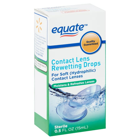 Equate Contact Lens Rewetting Drops, 0.5 fl oz - 1 Day Contact Lenses Halloween