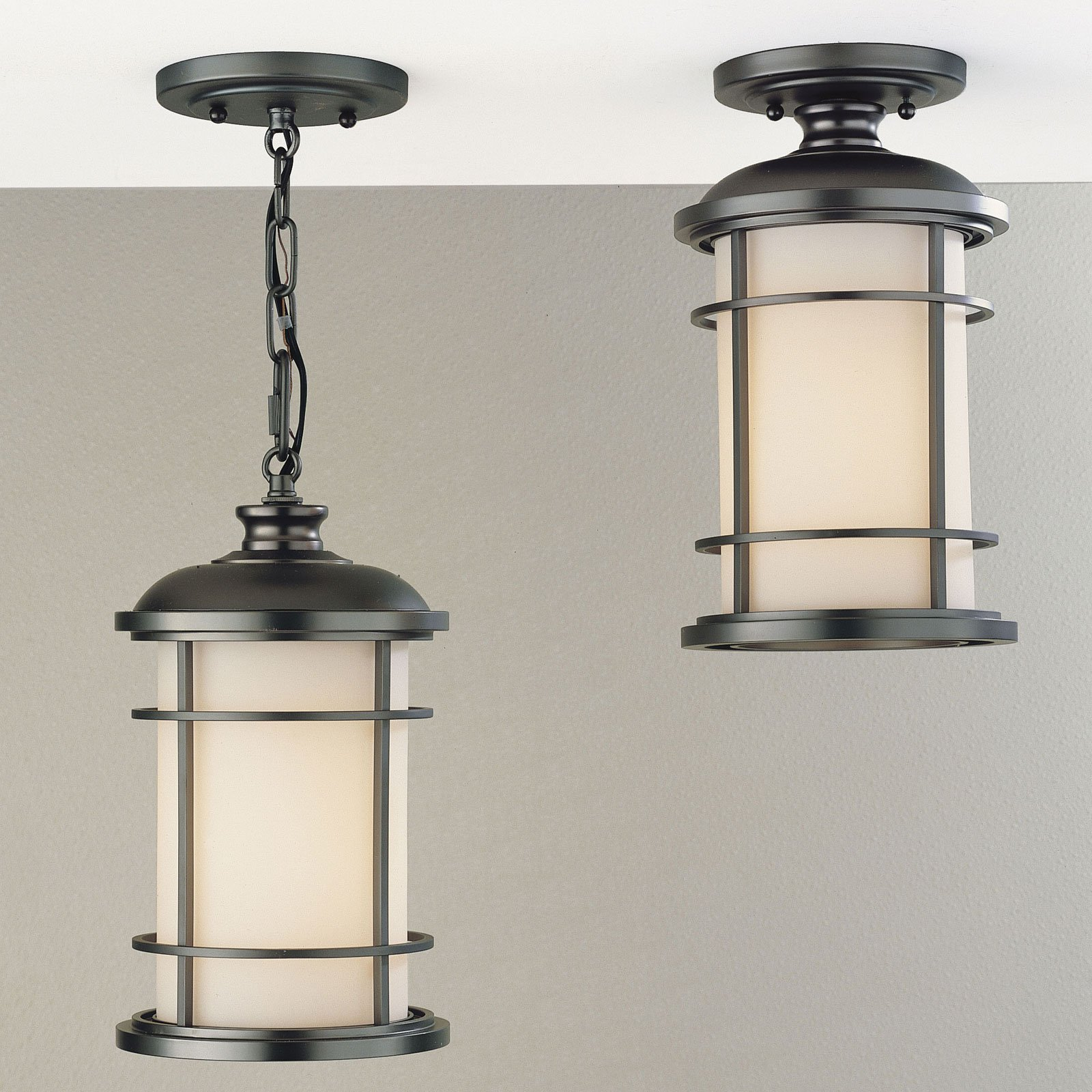 Feiss Lighthouse Outdoor Hanging/Ceiling Light - 12.5H in. Burnished Bronze