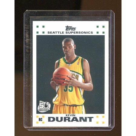 Photo Seattle Sonics Basketball (2007-08 Topps Rookie Set #2 Kevin Durant Seattle Sonics Rookie Card )
