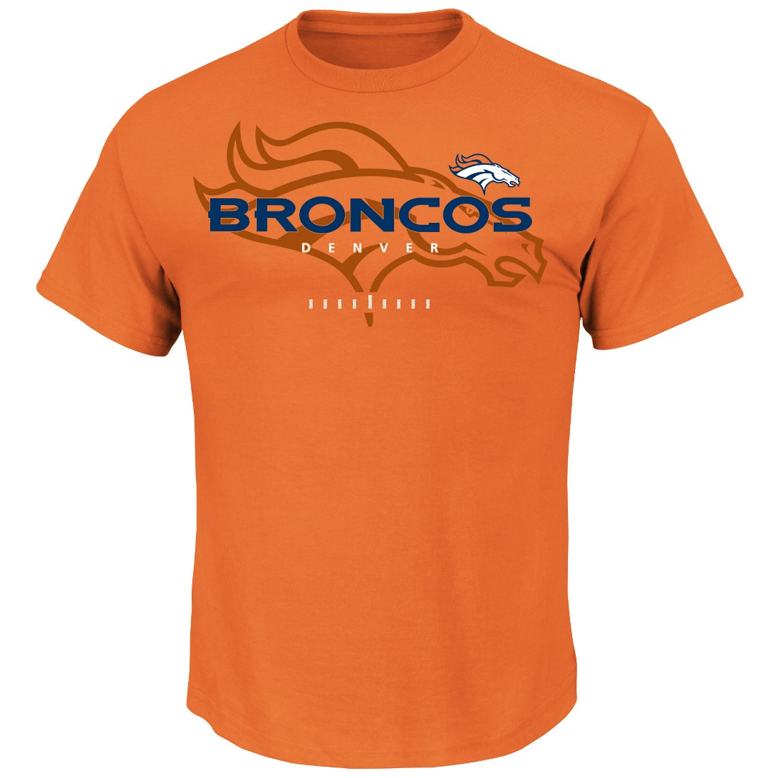 "Denver Broncos Majestic NFL ""Of Great Value"" Men's Short Sleeve T-Shirt"