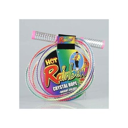 Rainbow Crystal Jump Rope Lazer Handles 7 Foot (Best Long Jump Spikes)