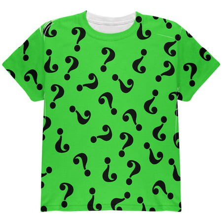 Halloween Riddle Me This Costume All Over Youth T Shirt (Halloween Events Near Me)