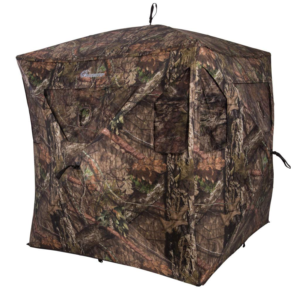 Ameristep Brickhouse Cloak Ground Hunting Blind Mossy Oak