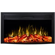 Regal Flame LW2026CRV 26 in. Curved Ventless Heater Electric Fireplace Insert