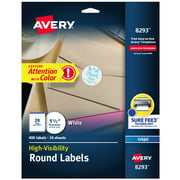 "Avery Round Labels, Inkjet Printers, 400 1-1/2"", Labels (8293)"