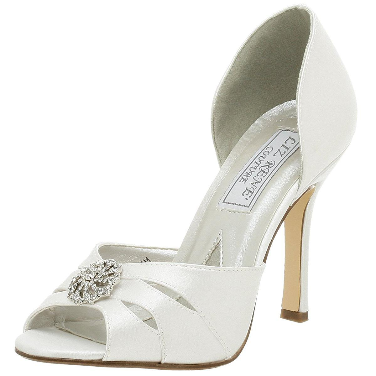 Liz Rene Couture Giselle Womens White Heels by Liz Rene Couture