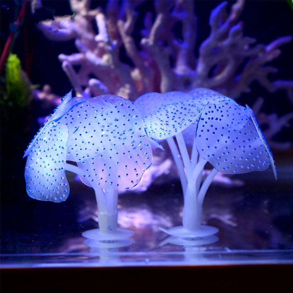 Tuscom Silicone Aquarium Fish Tank Artificial Coral Plant Underwater Ornament Decor