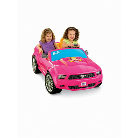 Wheels Barbie Pink Ford Mustang Car Electric 12v Ride On P8812 Open Box
