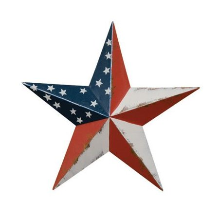 CWI Gifts Americana Barn Star Wall Decor, 5.5-Inch