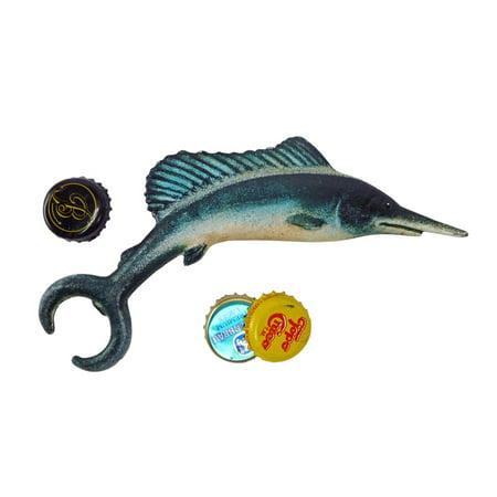 Design Toscano Marlin Fish Cast Iron Bottle - Fish Bottle Opener