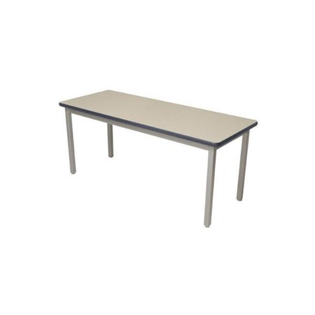 Lobo Tables LOB7100-ABP-32 42 in. x 7 2 in. Fully Welded Lobo Table, Black Frame and Adjustable Big Paw Legs, Bannister Oak Laminate with Lotz Armor Edge Top