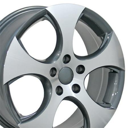 - 17x7 Wheel Fits Volkswagen - VW GTI Style Gunmetal Rim