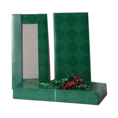 JAM Paper® Gift Box - 5 1/2 x 11 1/2 x 1 1/2 - Green Diamond - Sold individually
