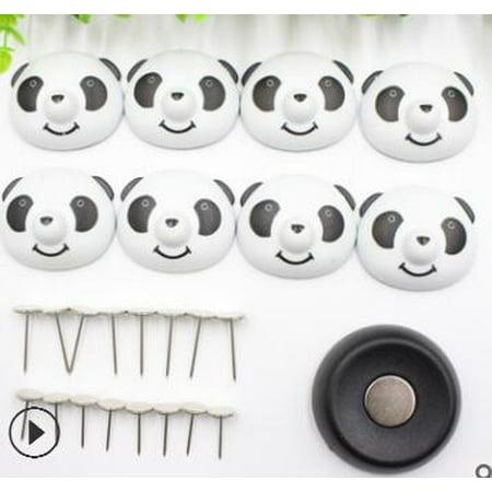 8 pcs Quilt Clip titulaire Mignon Drap De Lit Fixateur Antidérapant Housse de Couette Magnétique Anti-Déplacement Panda Boucle - image 3 de 3