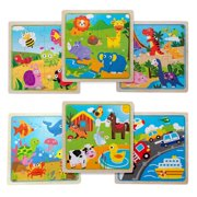 Eliiti Wooden Jigsaw Puzzles Set for Kids 3 to 5 Years Old - Farm, Safari, Vehicles, Insects, Dinosaurs, Sea Animals
