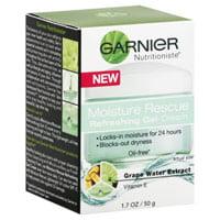 Garnier Nutritioniste Moisture Rescue Oil Free Gel-Cream, Grape Water Extract, 1.7 Oz