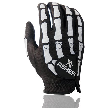 Men's Deathgrip Right Hand Glove, Black, Large, New Cooltech Breathable Synthetic Leather By Asher