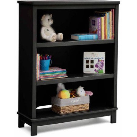 Delta Children Epic 3-Tier Kids Bookshelf, Black