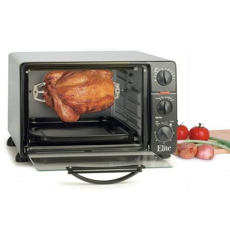 Elite Cuisine 23-Liter Toaster Oven with Rotisserie