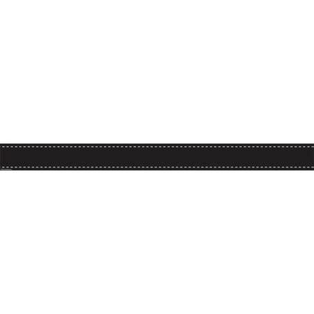 BLACK STITCH STRAIGHT BORDER TRIM