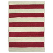 Nautical Stripe Red Indoor/ Outdoor Runner Rug (2' x 9') 20 x 30 inch
