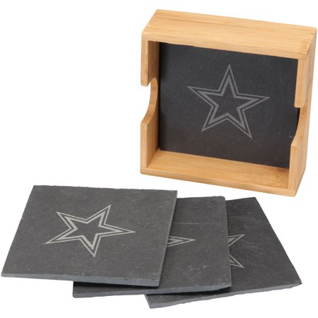 Dallas Cowboys 4-Pack Slate Square Coaster Set - No Size