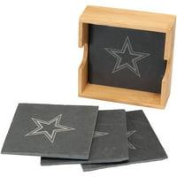 Dallas Cowboys 4-Pack Slate Square Coaster Set - No Size