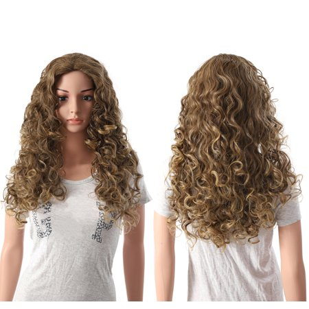 OneDor Long Hair Curly Wavy Full Head Halloween Wigs Cosplay Costume Party Hairpiece (R1416T) - Long Curly Wigs