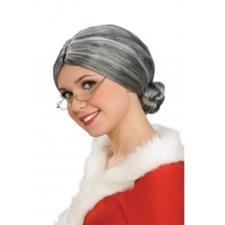 Deluxe Old Lady Wig Halloween Accessory - White Wigs Halloween