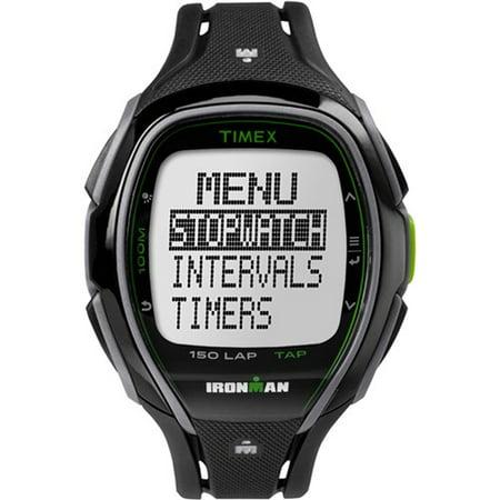 - Unisex Ironman Sleek 150 Tapscreen Full-Size Watch, Black Resin Strap