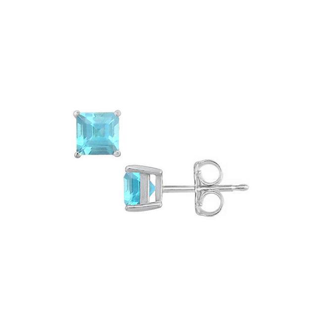 Precious Aquamarine Gemstone Earrings