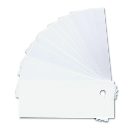 Order Tags - White Plastic Labeling Tags with Holes- 50-Pk