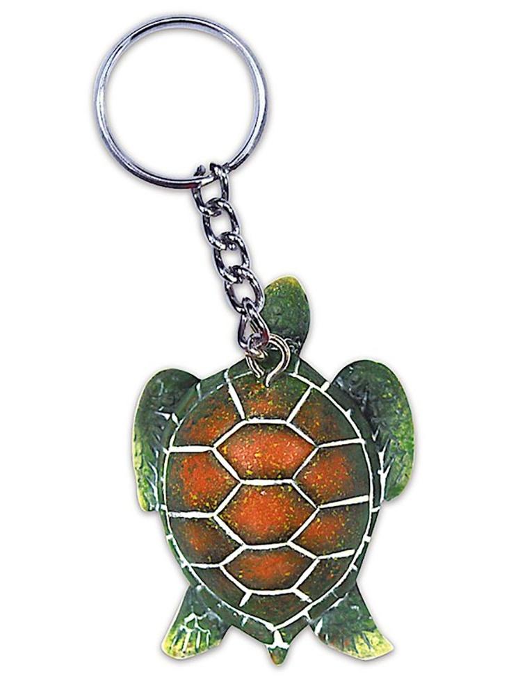 Hand Painted Honu Turtle Keychain