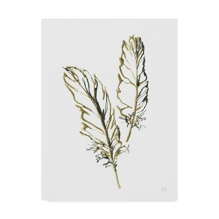 Trademark Fine Art 'Gilded Barn Owl Feather' Canvas Art by Chris Paschke (Fine Art Oil)