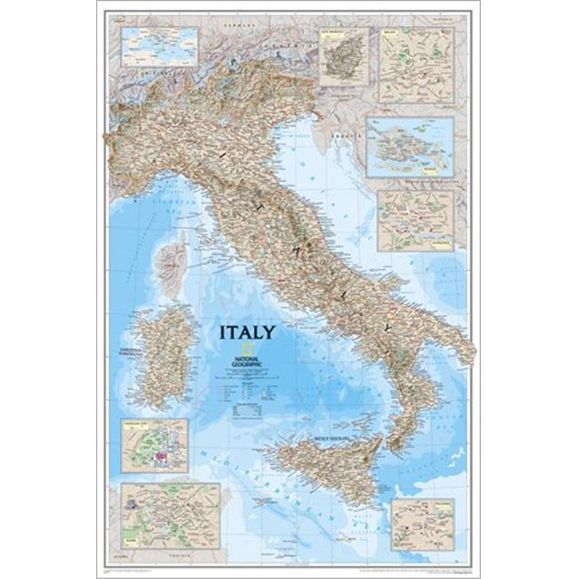 National Geographic Re00620158 Map Of Italy Laminated