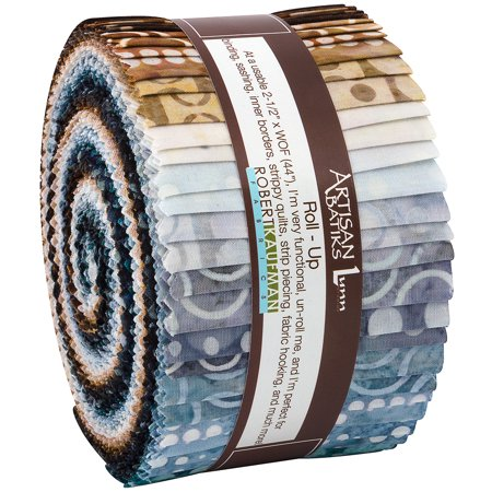 Robert Kaufman Roundabout Artisan Batiks Roll Up 40 Strips