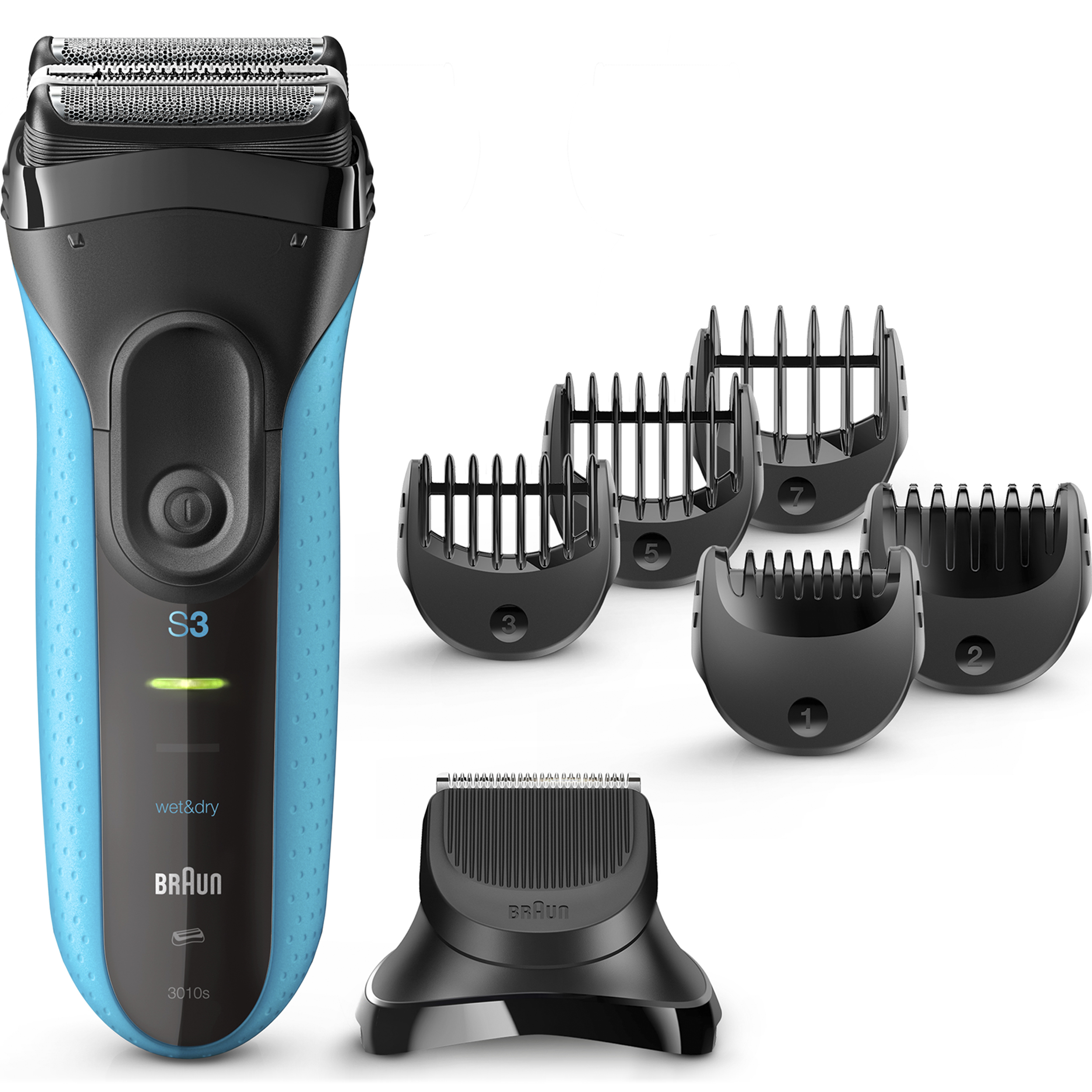 Braun Series 3 ($15 Mail In Rebate Available) Shave & Style 3010BT 3-in-1 Electric Wet & Dry Shaver / Razor for Men with Precision Beard Trimmer